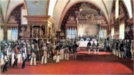 Торжественный обед императора Александра II в Грановитой палате. 1856 г.