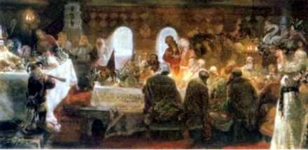 Ю. Сергеев. Пир Ивана IV (Грозного) в Александровской слободе. 1994 г.