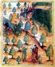 Рыбная ловля. Миниатюра из рукописи XVII в.