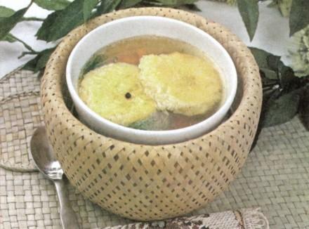 """Рецепт """"Бульон с запеченным рисом"""""""