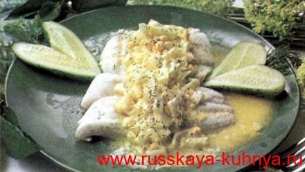 Рыба в яичном соусе