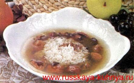 Суп фруктовый холодный