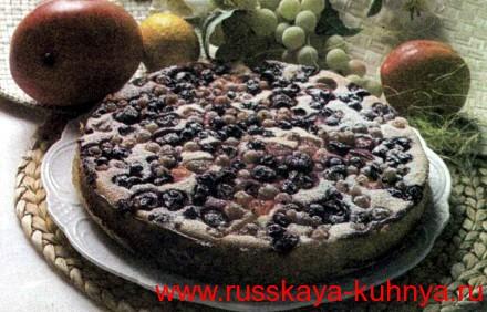 Творожный пирог с ягодным ассорти