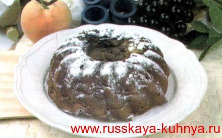 Пирог из ванильных сухарей