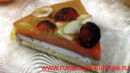 Фруктово-творожный торт