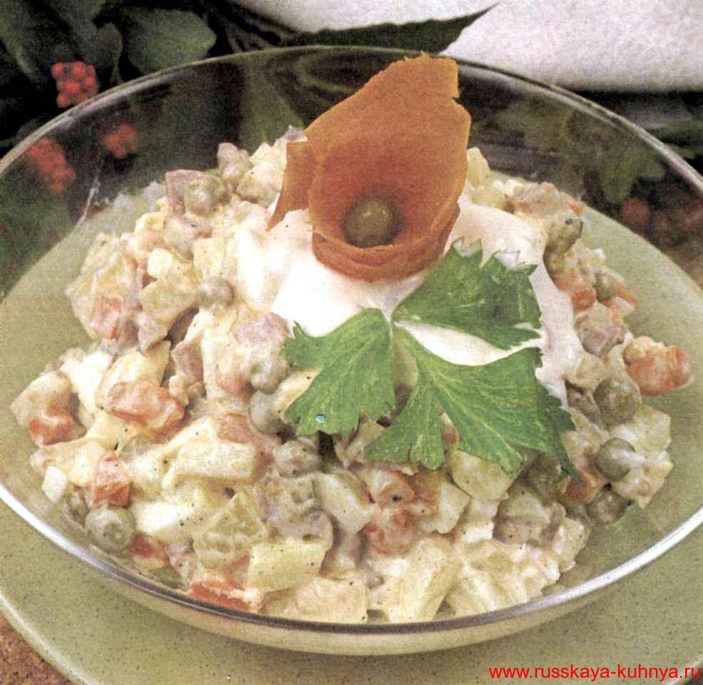 Салат с копченой уткой рецепт